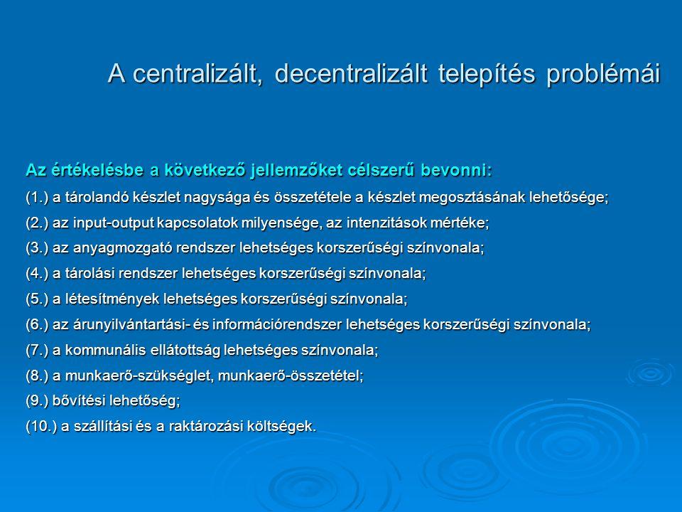 A centralizált, decentralizált telepítés problémái