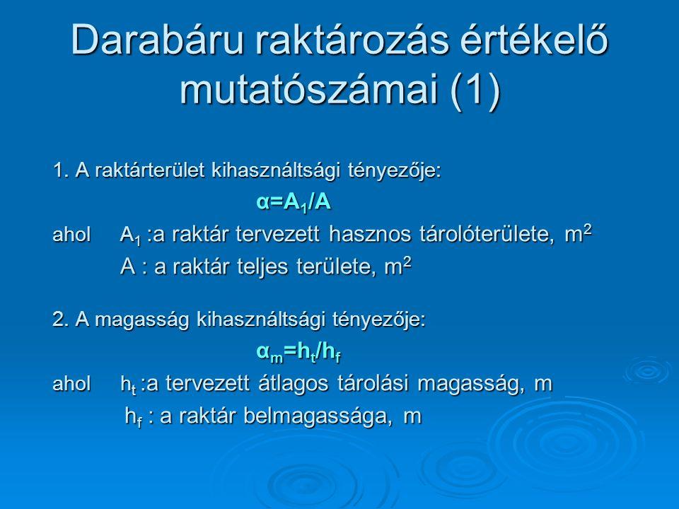 Darabáru raktározás értékelő mutatószámai (1)