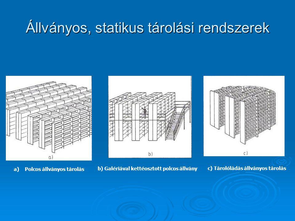 Állványos, statikus tárolási rendszerek