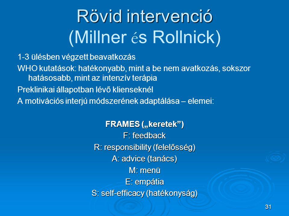Rövid intervenció (Millner és Rollnick)