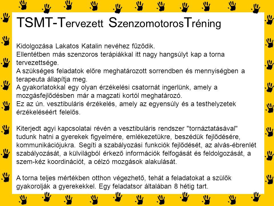 TSMT-Tervezett SzenzomotorosTréning