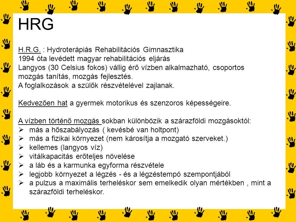 HRG H.R.G. : Hydroterápiás Rehabilitációs Gimnasztika