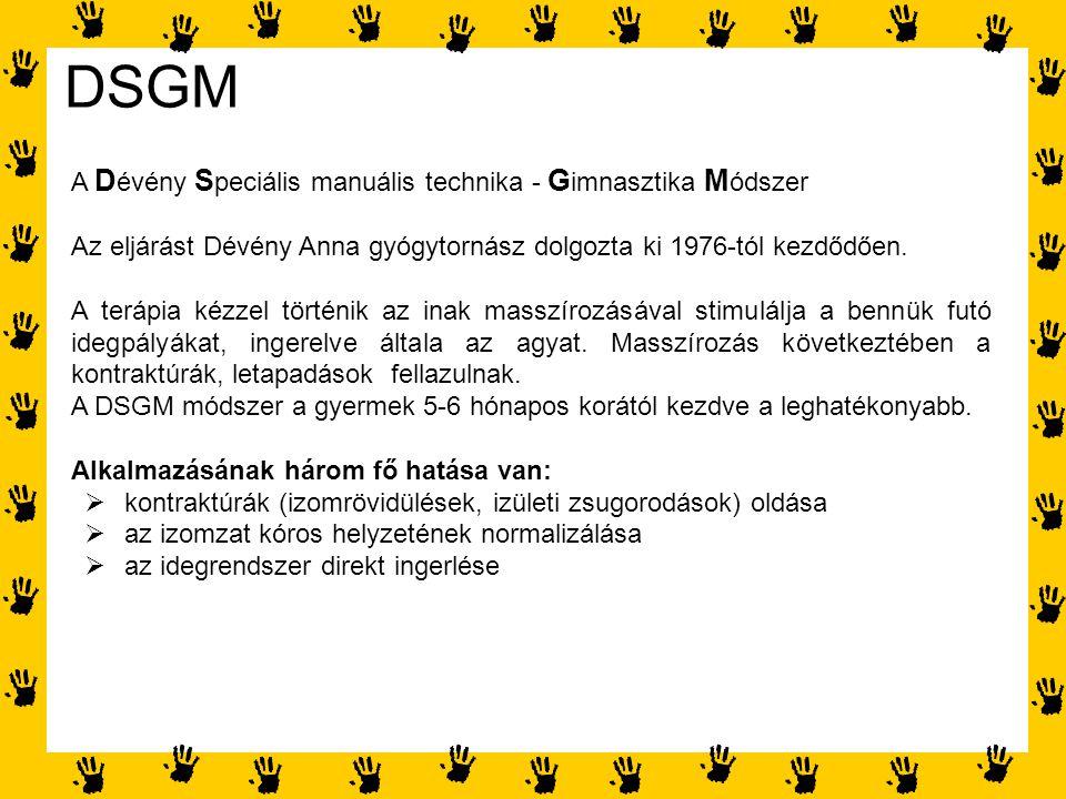 DSGM A Dévény Speciális manuális technika - Gimnasztika Módszer