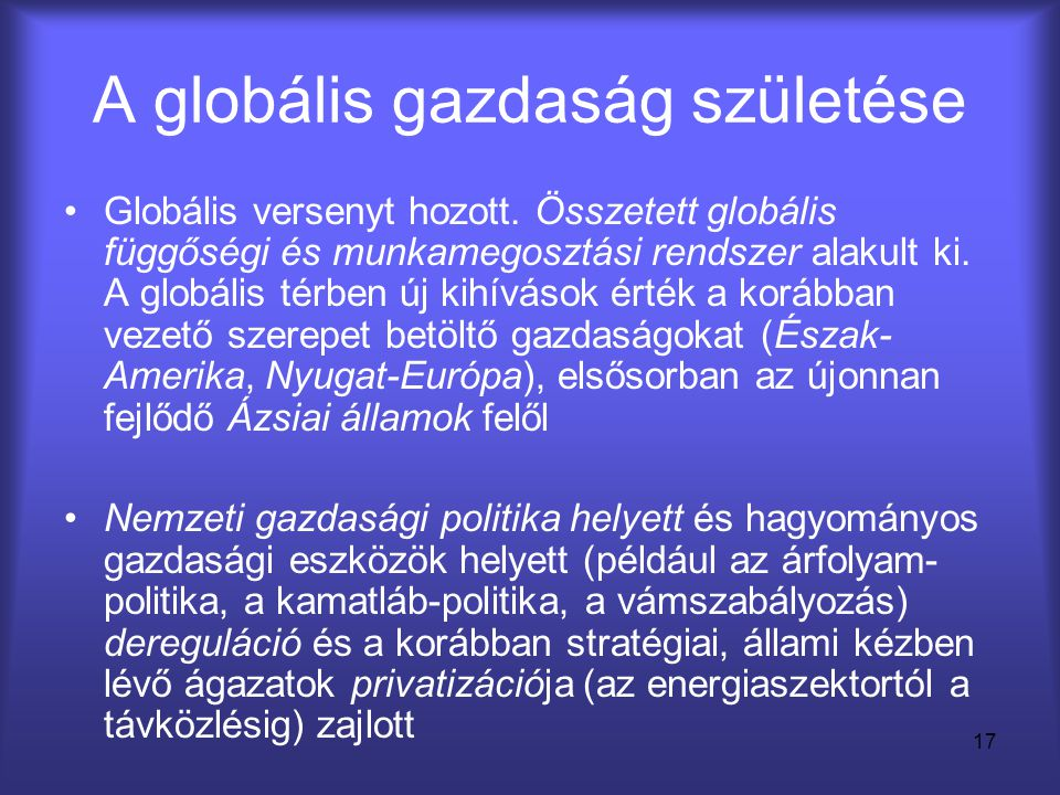 A globális gazdaság születése