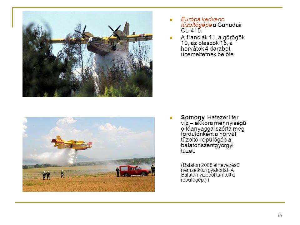 Európa kedvenc tűzoltógépe a Canadair CL-415.