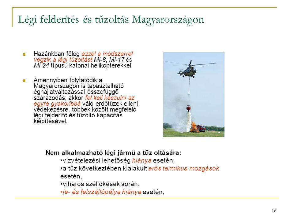 Légi felderítés és tűzoltás Magyarországon