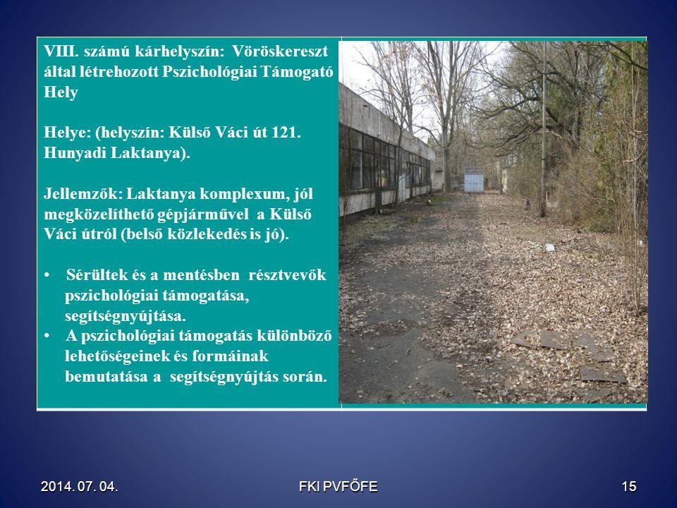 Helye: (helyszín: Külső Váci út 121. Hunyadi Laktanya).