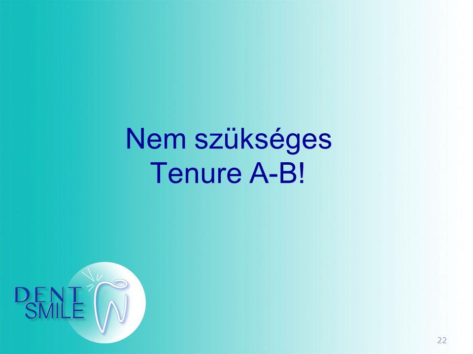 Nem szükséges Tenure A-B!