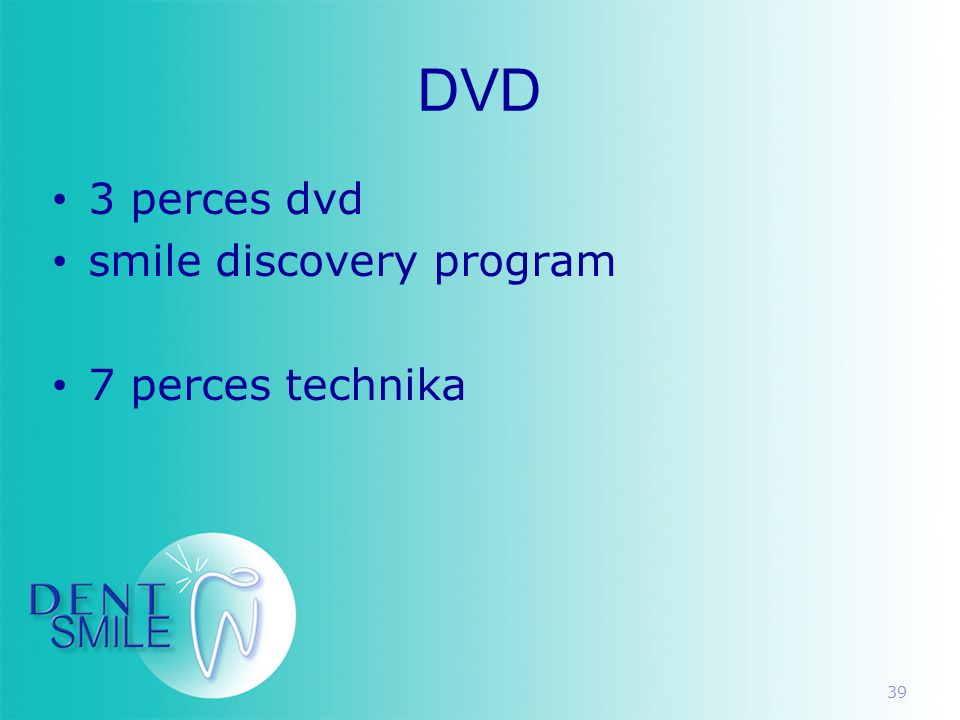 DVD 3 perces dvd smile discovery program 7 perces technika
