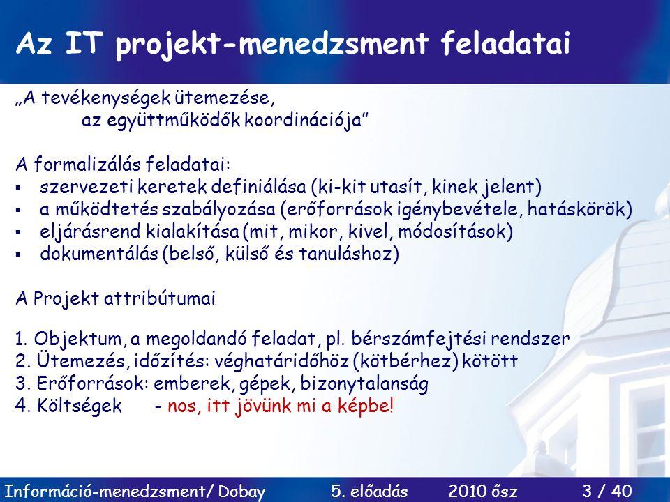 Az IT projekt-menedzsment feladatai