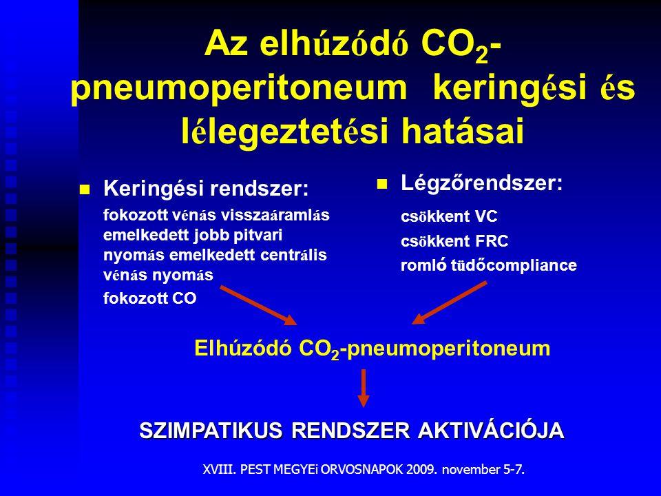 Az elhúzódó CO2-pneumoperitoneum keringési és lélegeztetési hatásai