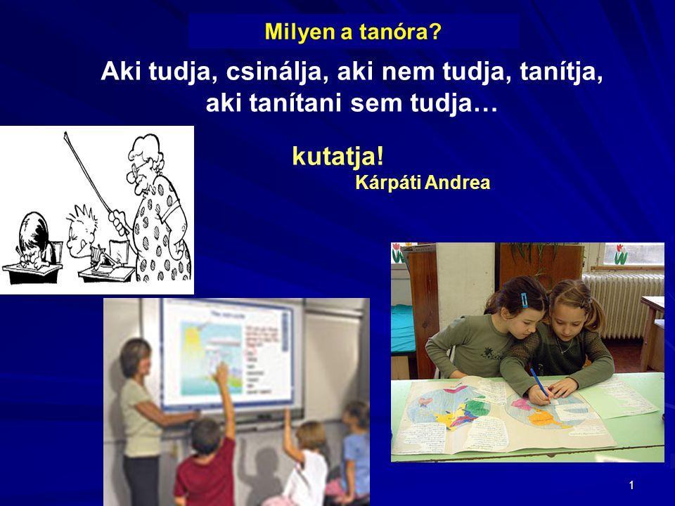 Aki tudja, csinálja, aki nem tudja, tanítja, aki tanítani sem tudja…