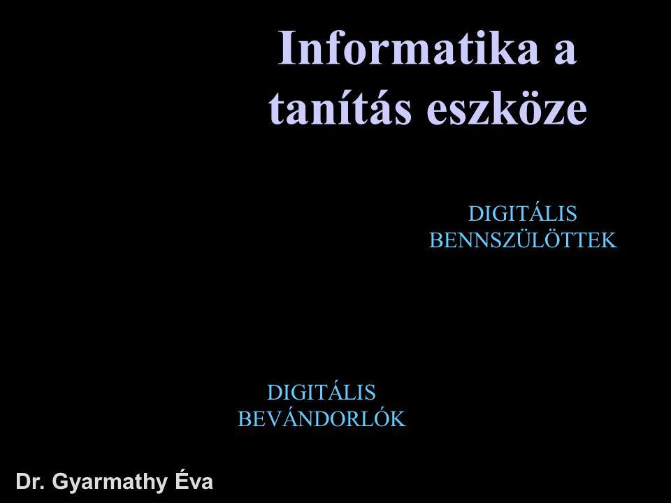 Informatika a tanítás eszköze