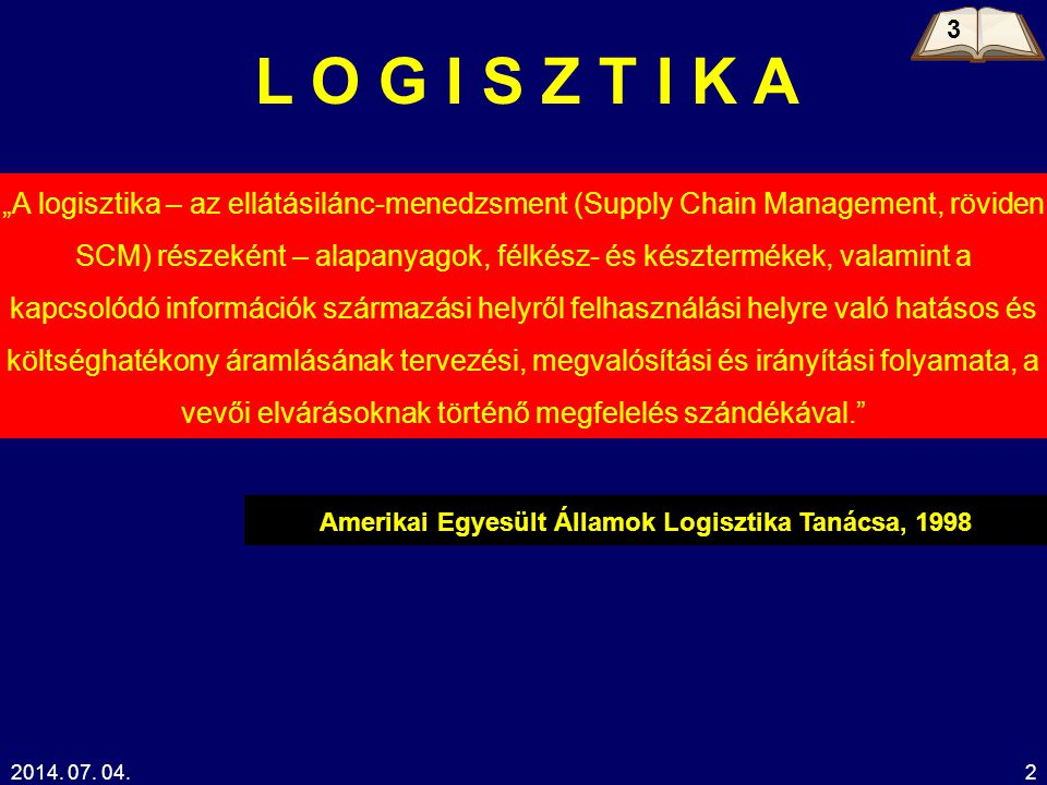 Amerikai Egyesült Államok Logisztika Tanácsa, 1998