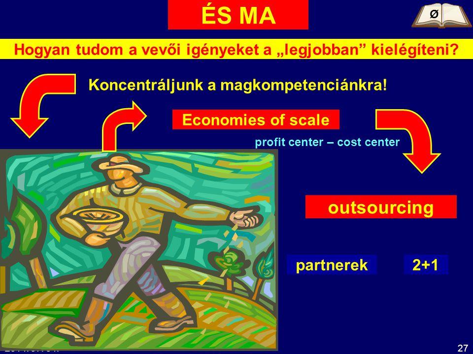 """ÉS MA Ø. Hogyan tudom a vevői igényeket a """"legjobban kielégíteni Koncentráljunk a magkompetenciánkra!"""
