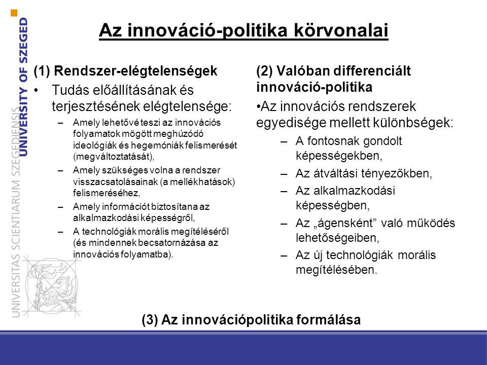 Az innováció-politika körvonalai