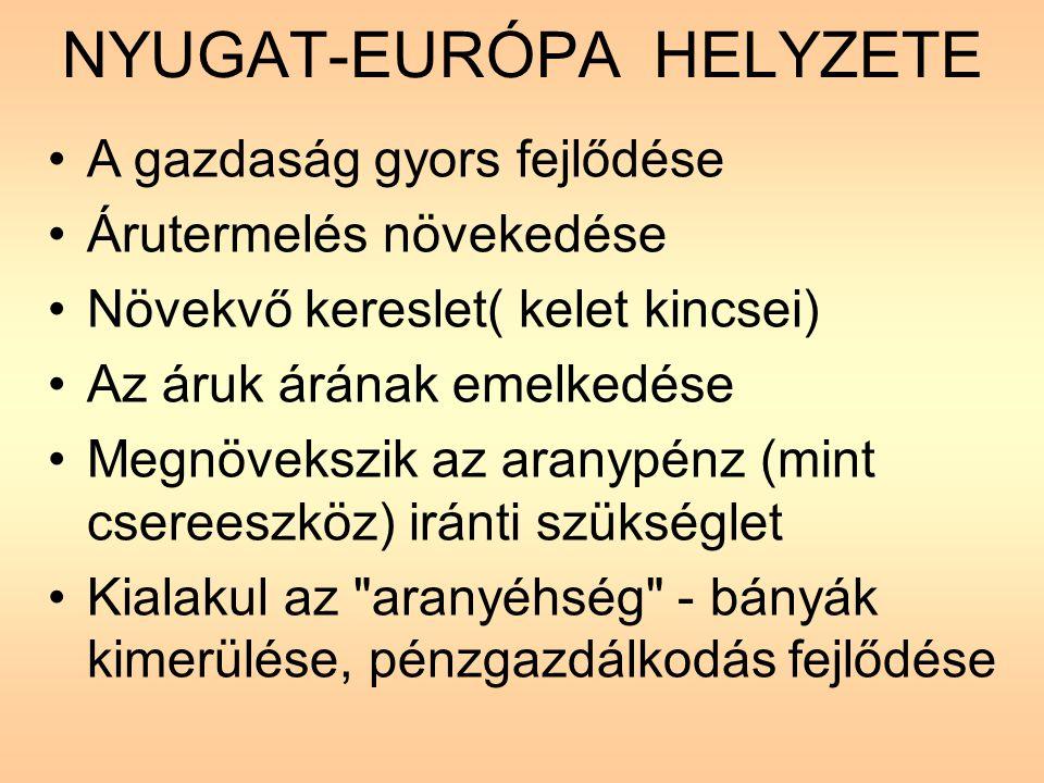 NYUGAT-EURÓPA HELYZETE