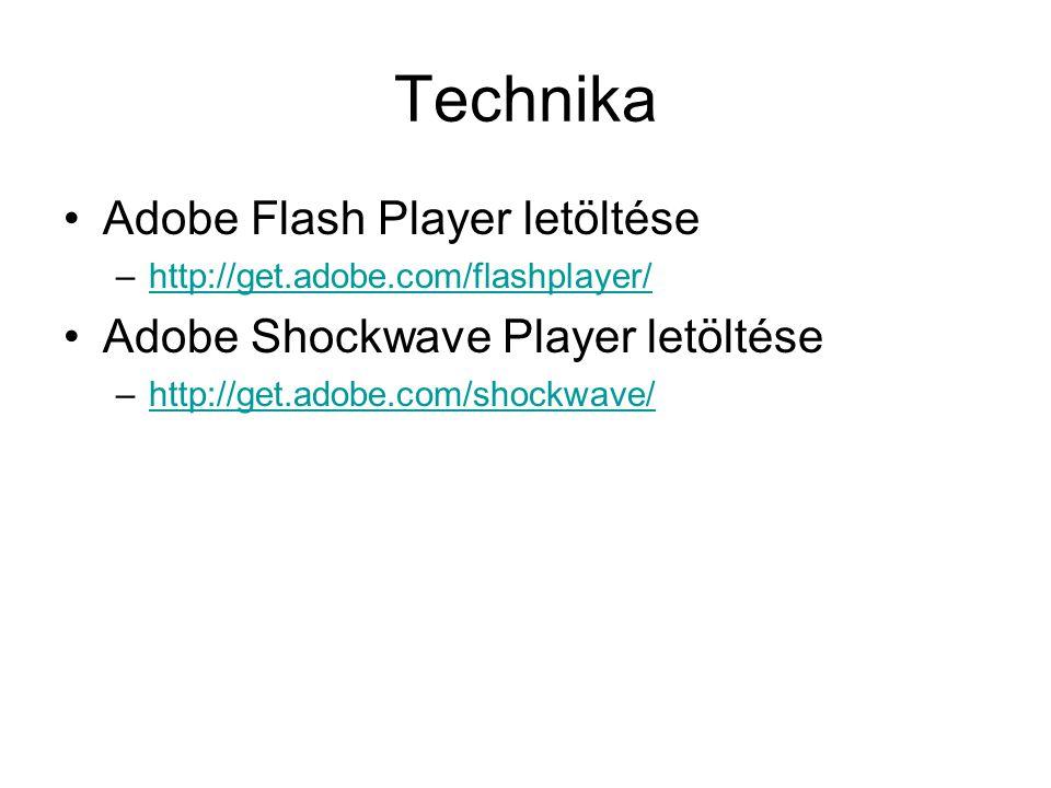 Technika Adobe Flash Player letöltése Adobe Shockwave Player letöltése