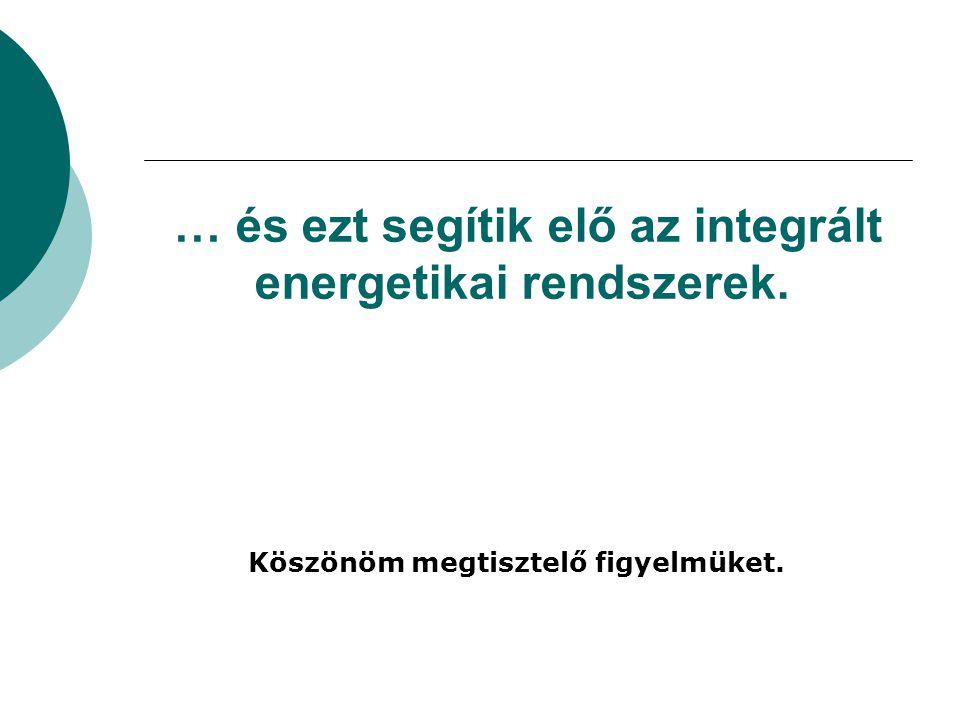 … és ezt segítik elő az integrált energetikai rendszerek.