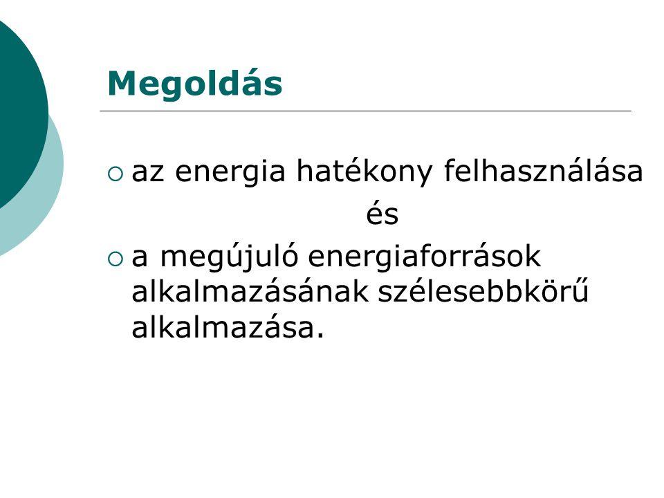 Megoldás az energia hatékony felhasználása és