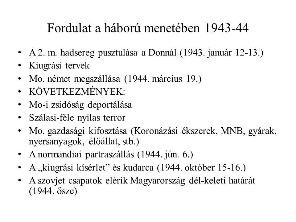 Fordulat a háború menetében 1943-44