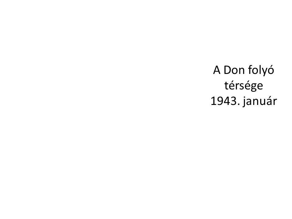 A Don folyó térsége 1943. január