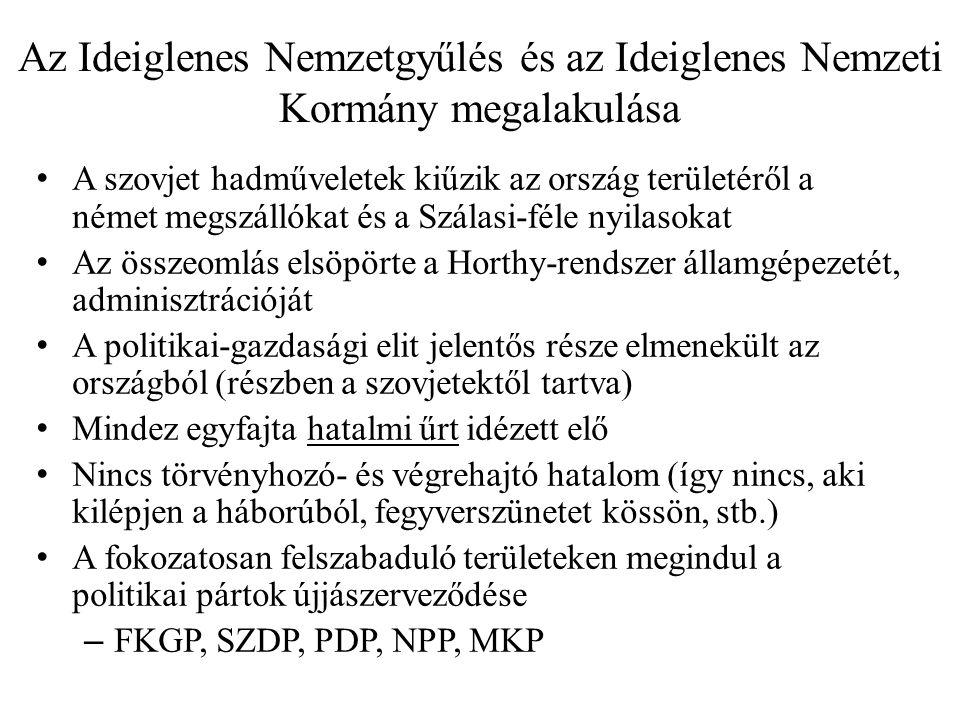 Az Ideiglenes Nemzetgyűlés és az Ideiglenes Nemzeti Kormány megalakulása