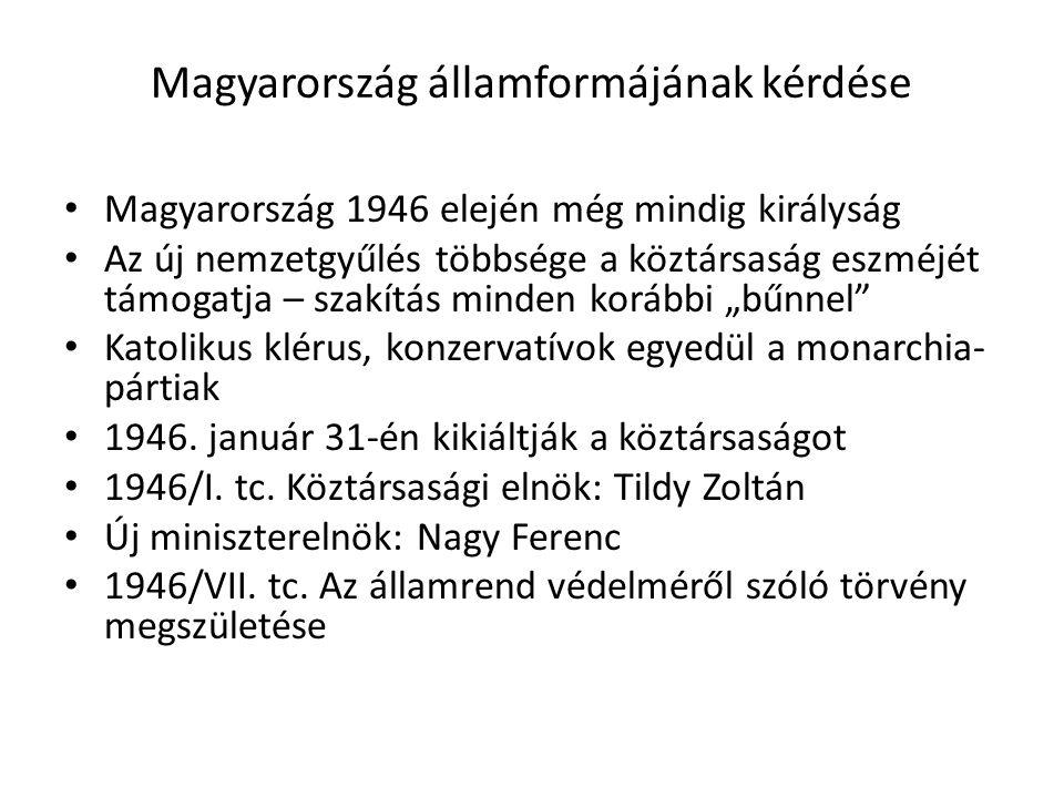 Magyarország államformájának kérdése