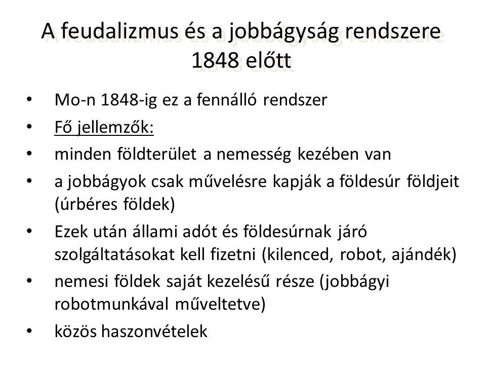 A feudalizmus és a jobbágyság rendszere 1848 előtt