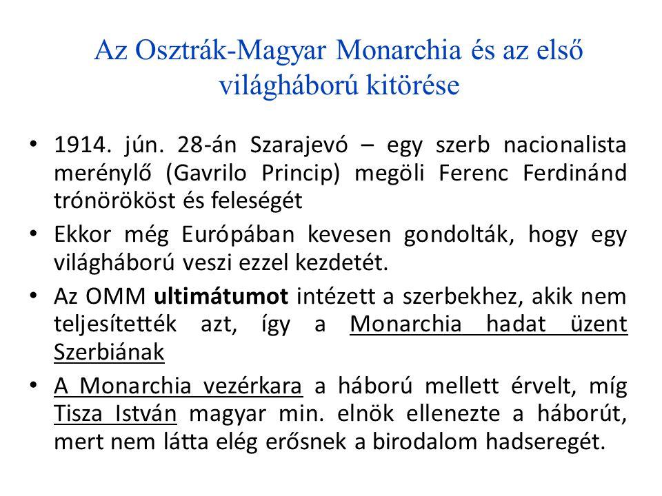 Az Osztrák-Magyar Monarchia és az első világháború kitörése