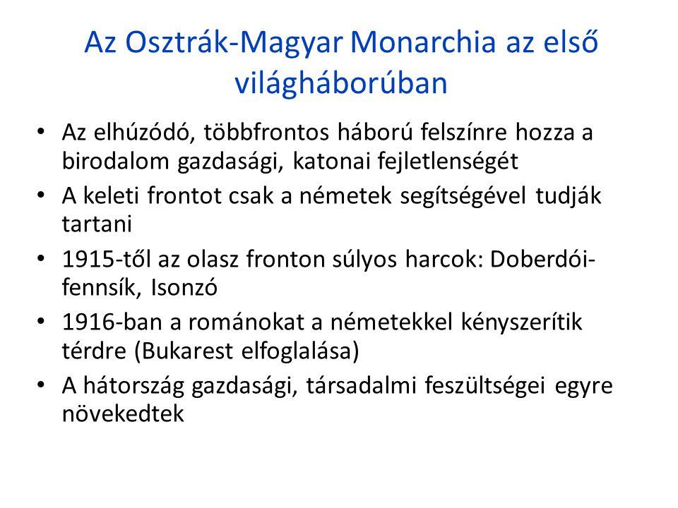 Az Osztrák-Magyar Monarchia az első világháborúban