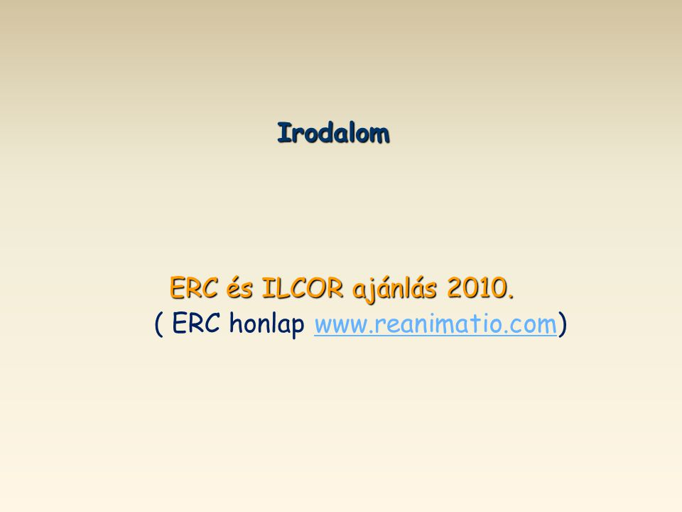 ( ERC honlap www.reanimatio.com)