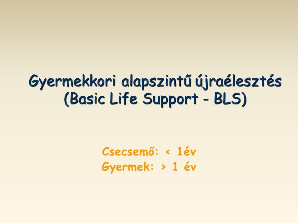 Gyermekkori alapszintű újraélesztés (Basic Life Support - BLS)