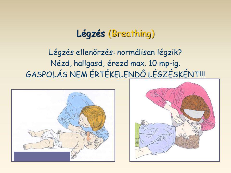Légzés (Breathing) Légzés ellenőrzés: normálisan légzik