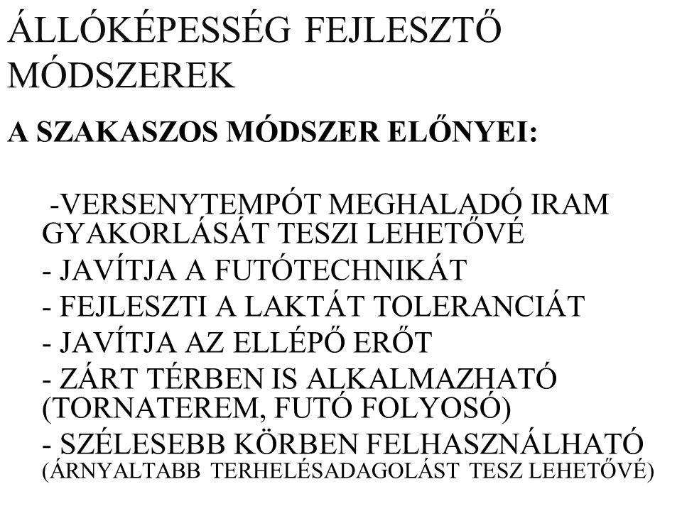ÁLLÓKÉPESSÉG FEJLESZTŐ MÓDSZEREK