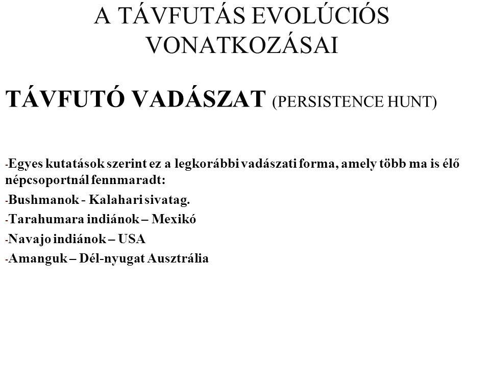 A TÁVFUTÁS EVOLÚCIÓS VONATKOZÁSAI