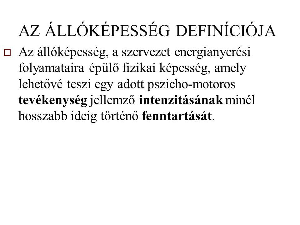 AZ ÁLLÓKÉPESSÉG DEFINÍCIÓJA