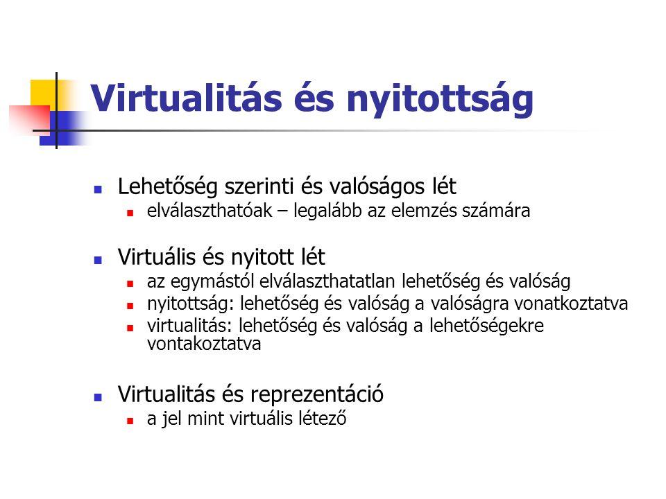 Virtualitás és nyitottság
