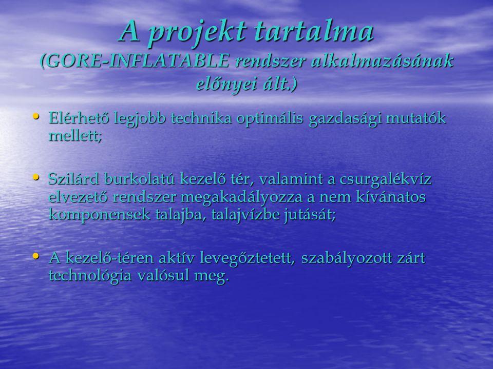 A projekt tartalma (GORE-INFLATABLE rendszer alkalmazásának előnyei ált.)