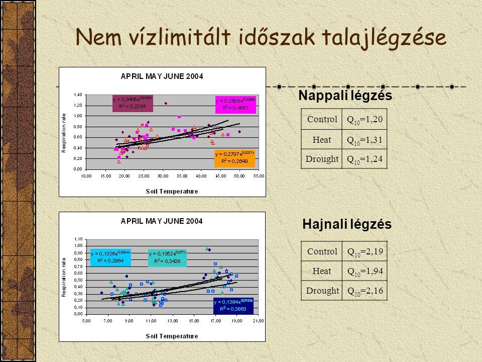 Nem vízlimitált időszak talajlégzése