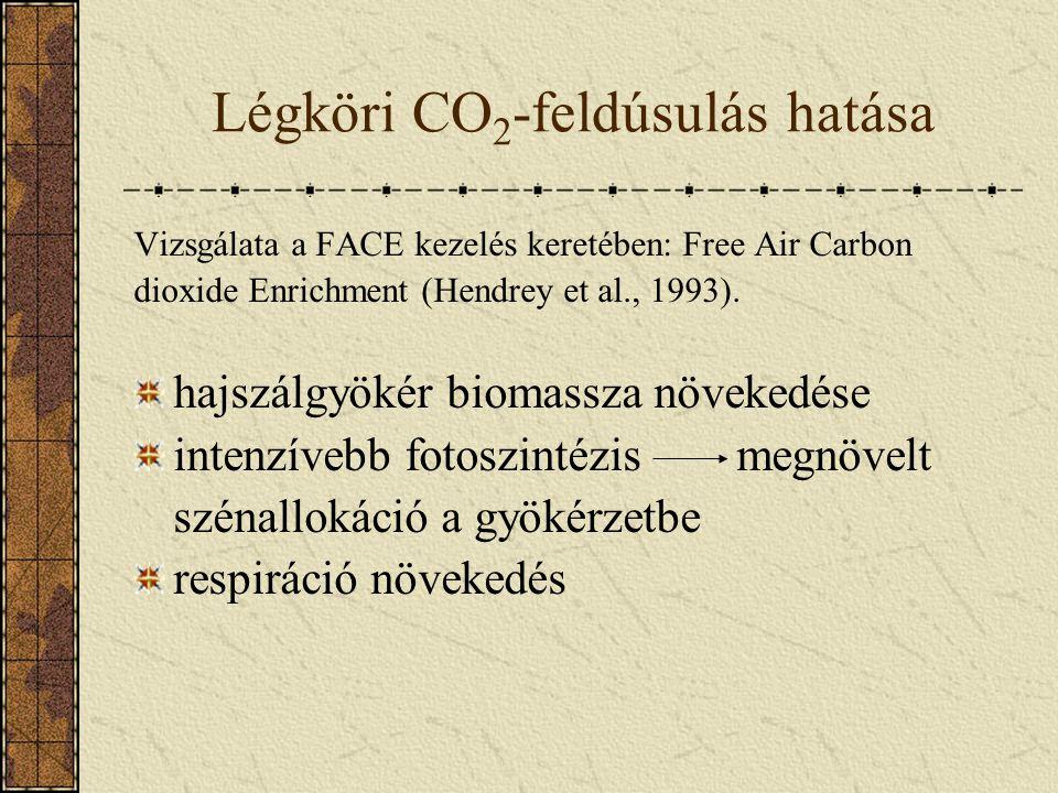 Légköri CO2-feldúsulás hatása