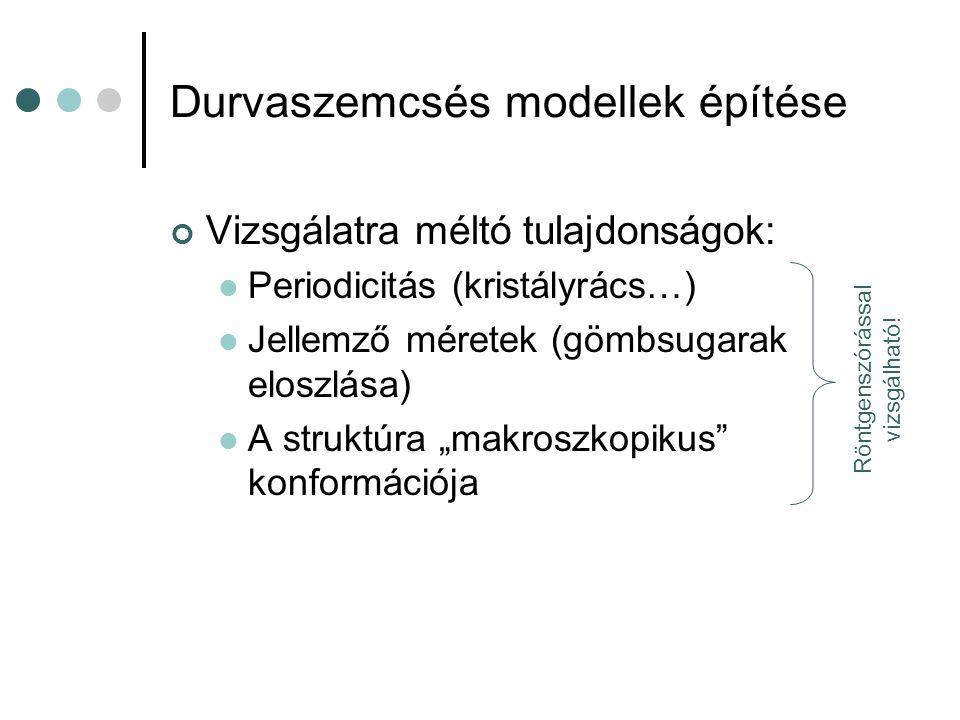 Durvaszemcsés modellek építése