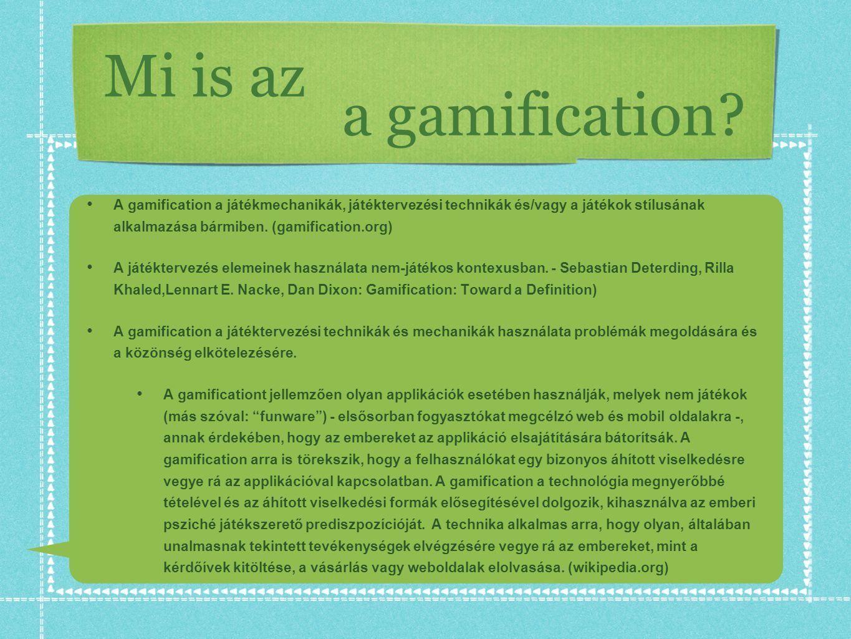 Mi is az a gamification