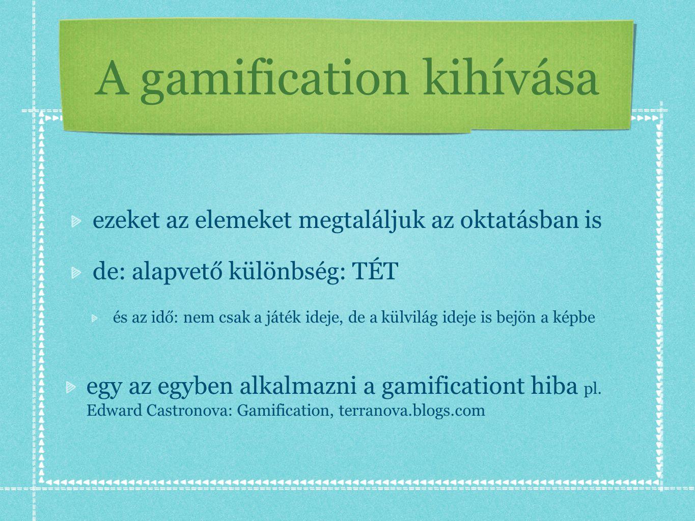 A gamification kihívása
