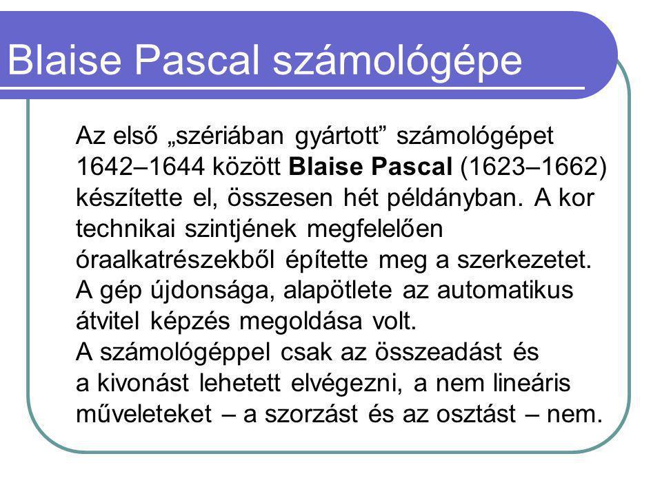 Blaise Pascal számológépe