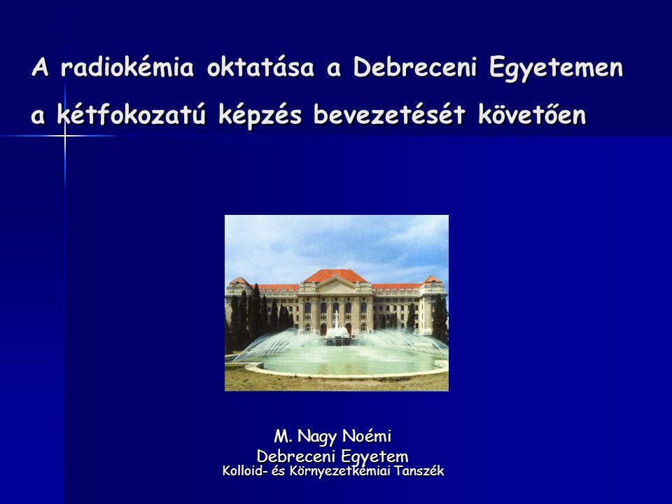 M. Nagy Noémi Debreceni Egyetem Kolloid- és Környezetkémiai Tanszék