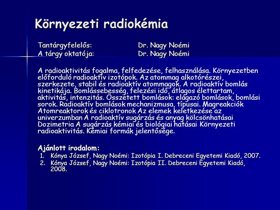 Környezeti radiokémia
