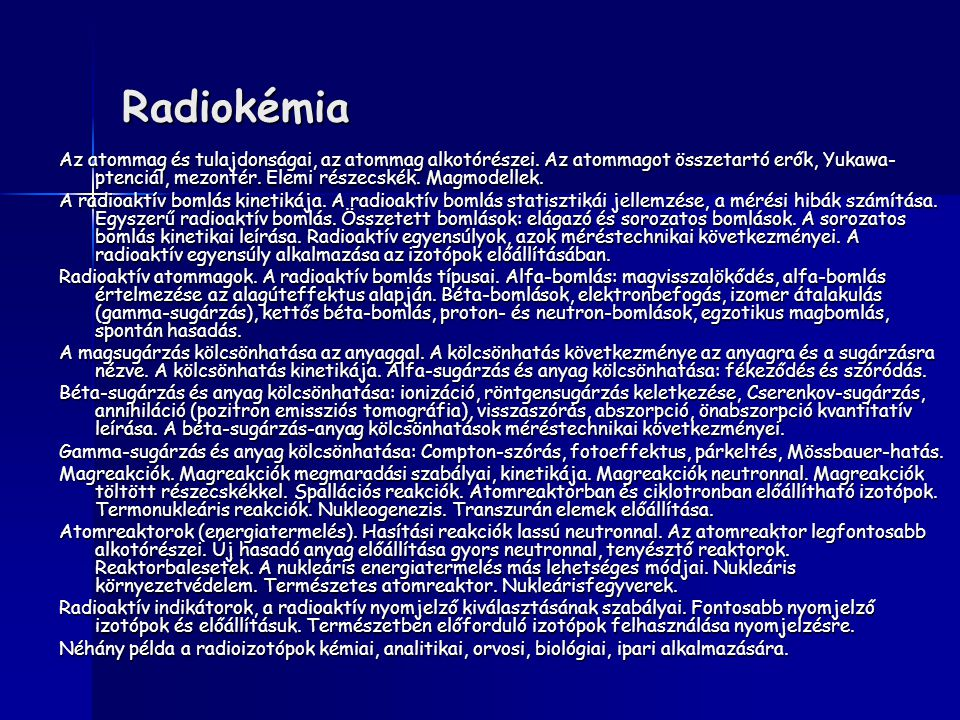 Radiokémia