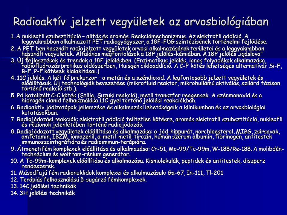 Radioaktív jelzett vegyületek az orvosbiológiában