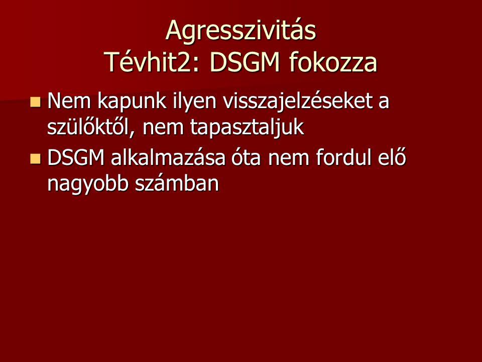 Agresszivitás Tévhit2: DSGM fokozza